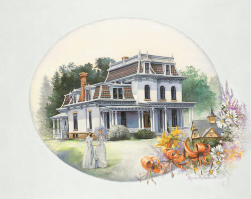 Print of Reflections of Days Gone By, by Marian Anderson, featuring the R.D. Hubbard House in Mankato, Minnesota