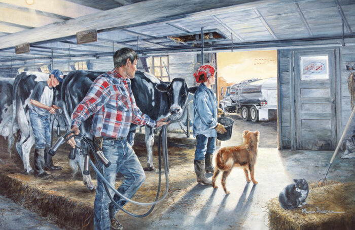 There For Each Other, print by Marian Anderson celebrates dairy farmers and the AMPI