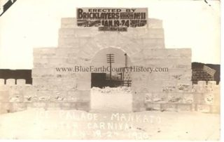 Ice Palace at the 1920 Mankato Winter Carnival