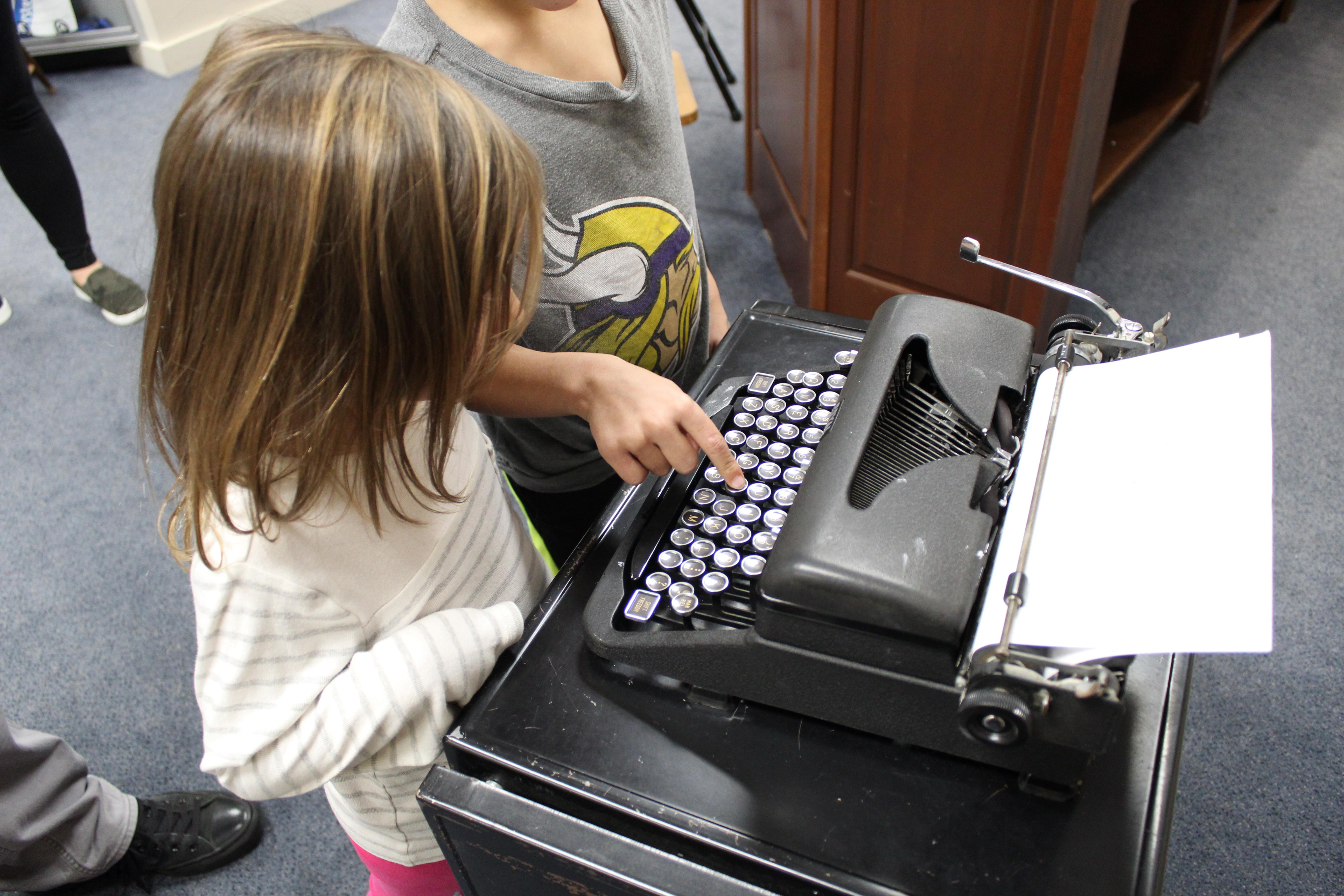 Kids at Typewriter