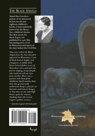 Back cover to The Black Angels by Maud Hart Lovelace