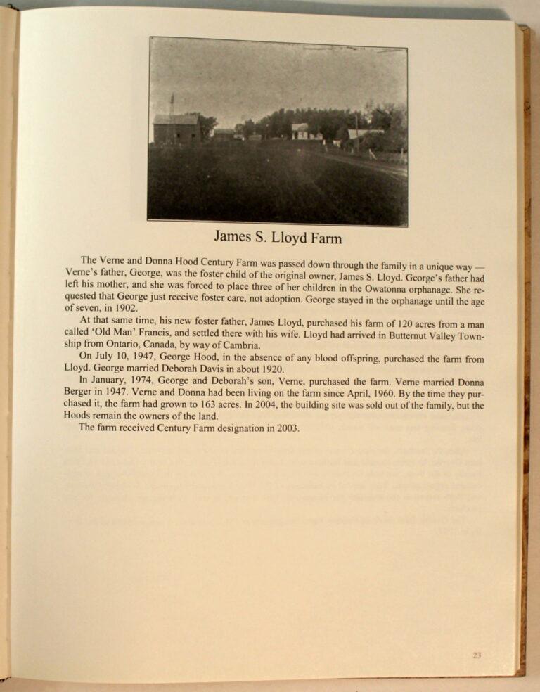 Preview of Blue Earth County Century Farms, James S. Lloyd Farm