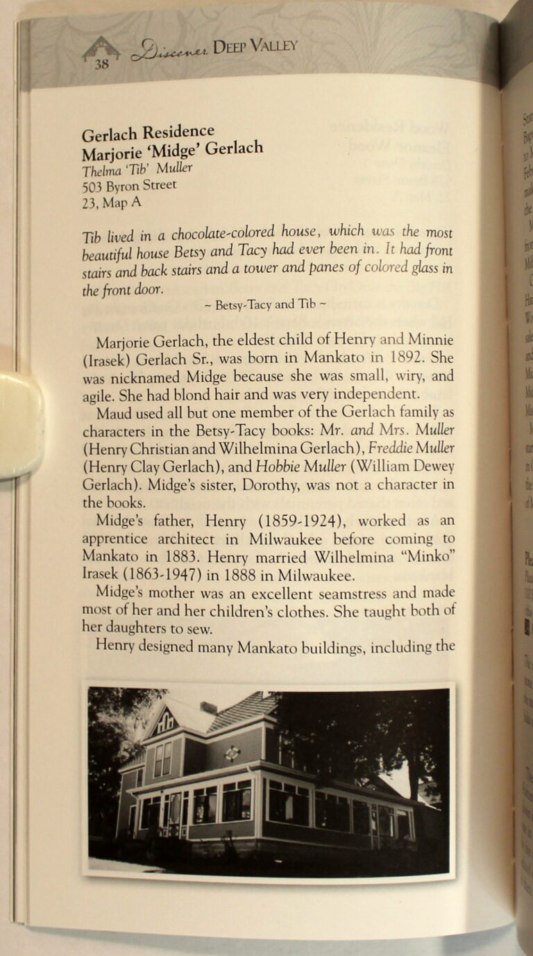 Preview of Discover Deep Valley: A Guide to Maud Hart Lovelace's Mankato; Tib's House
