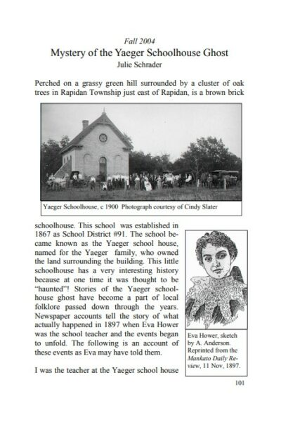 "Preview of The Historian, volume 1. The opening paragraphs to ""Mystery of the Yeager Schoolhouse Ghost"""