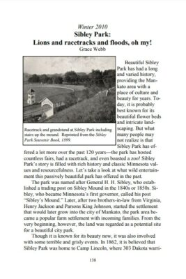 "Preview of The Historian, volume 2, opening paragraphs to ""Sibley Park: Lions and racetracks and floods, oh my!"""