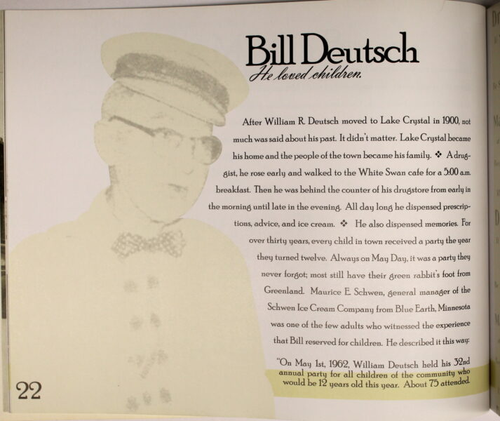 Preview of Did They Think We Would Remember? Lake Crystal, MN; Bill Deutsch excerpt