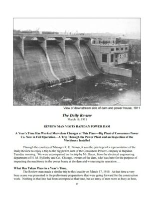 Preview of Rapidan Dam: The Construction of a Landmark, March 16 1911 newspaper report