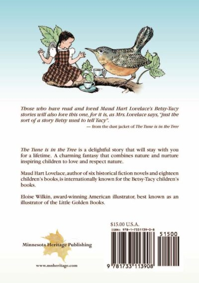The back cover of The Tune is in the Tree by Maud Hart Lovelace