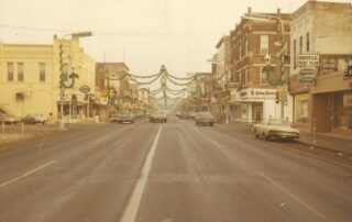 Colorful lights and decorations that once graced Mankato's Front Street every Christmas season