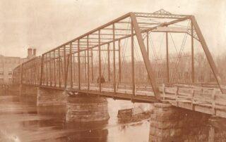 Main Street Bridge in Mankato, Minnesota. This Iron bridge that spans the Minnesota River, was constructed in 1880