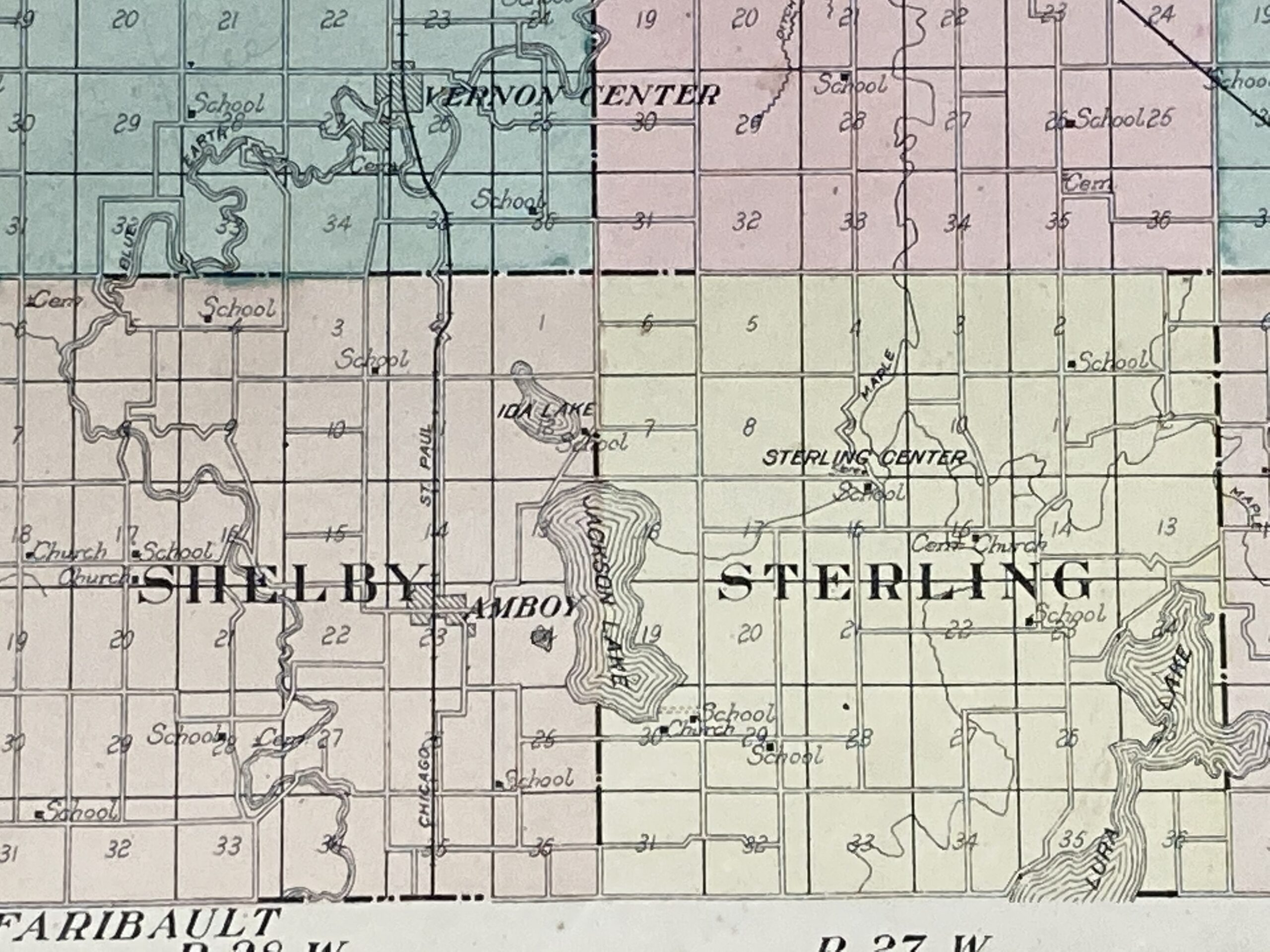 Map of where Jackson Lake was in 1914.