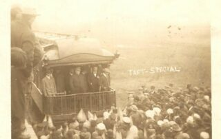 In 1911, President William Taft visited Mankato as he sought re-election. Thousands witnessed the event