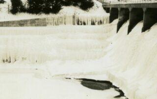Rapidan Dam frozen during the 1936 freeze