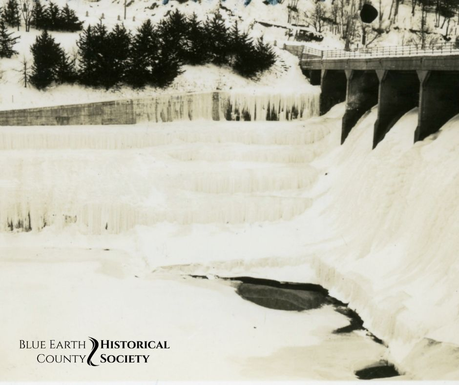 Rapidan Dam frozen during the 1936 freeze