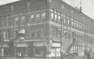 Brett's Department Store Black and white image