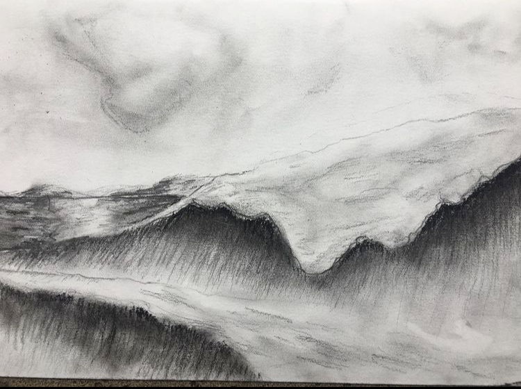 Grace pencil and charcole sketch water creativity challenge winner