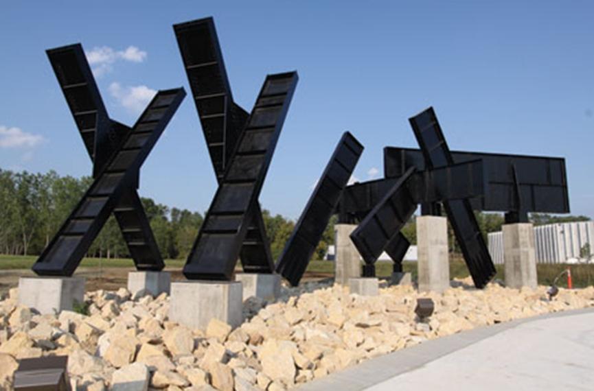 Mankato Piece in Riverfront Park, Mankato. Image from the Mankato City Art Page