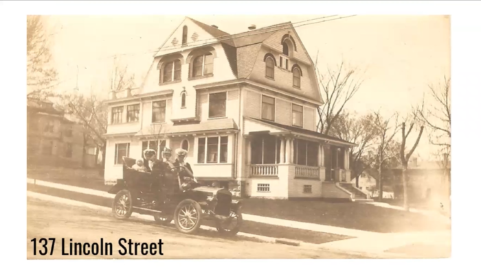 From the Silk Stocking Stroll Virtual Walking Tour, 137 Lincoln Street in the Lincoln Park Neighborhood in Mankato, once home to Jay Hubbard