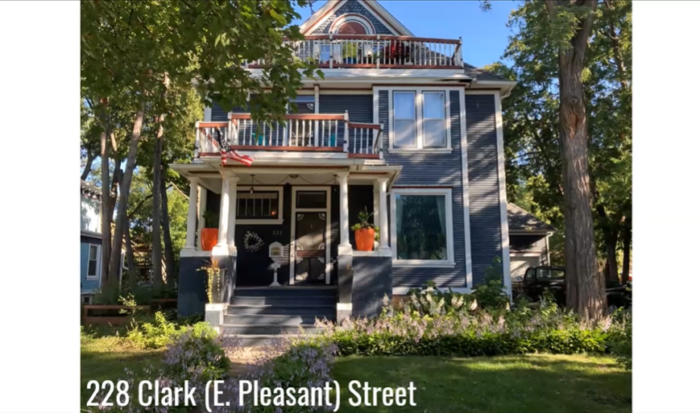 From the Silk Stocking Stroll Virtual Walking Tour, a picture of the Mankato home of Minnesota Governor Adolph Eberhart