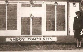 Amboy Honor Roll board, World War II