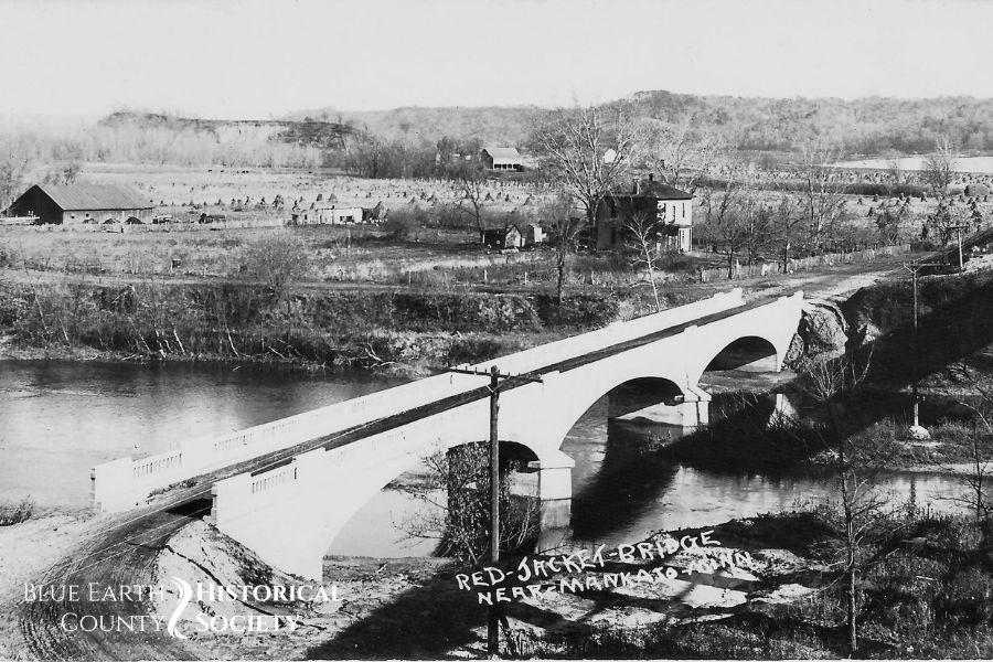 Red Jacket Bridge shortly after completion. Black and White Image