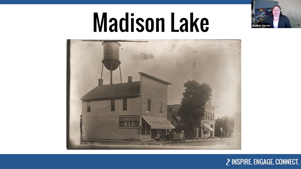 Historic image of Madison Lake, Minnesota as seen in BECHS' virtual tour of Eastern Blue Earth County.