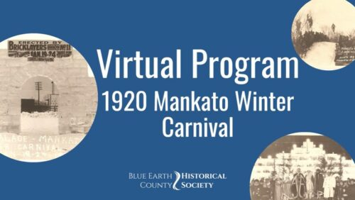 """Opening graphic for BECHS program """"1920 Mankato Winter Carnival"""""""