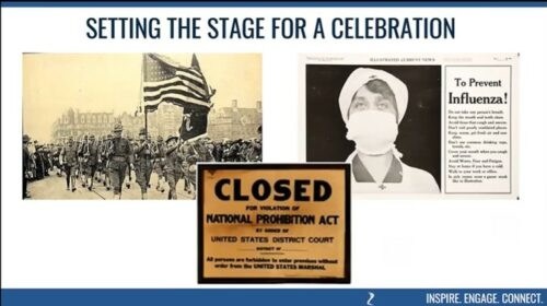 Setting the Stage for the 1920 Mankato Winter Carnival with events including WWI, Prohibition and the Influenza pandemic