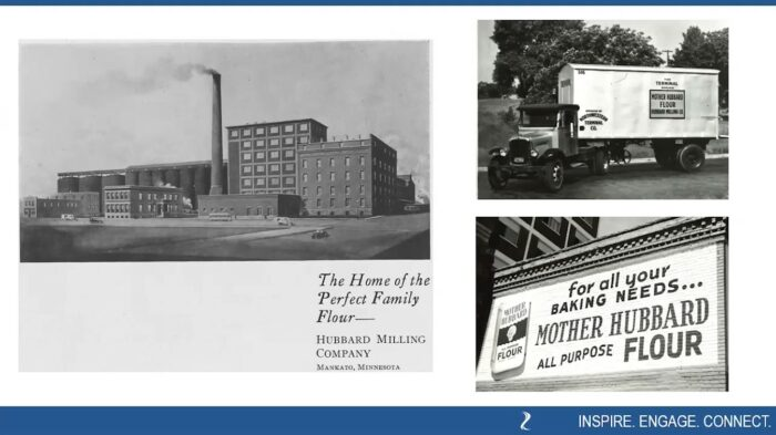 """Hubbard Mill in Mankato, Minnesota and some of its history as seen in BECHS virtual program """"Meet the Hubbards"""""""
