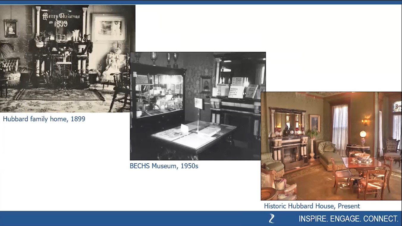 """Phases of the RD Hubbard House in Mankato, Minnesota, as seen in BECHS virtual program """"Meet the Hubbards"""""""