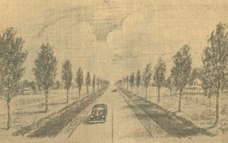 A. Andsersons Sketch of Harriet Barney's idea for Victory Drive