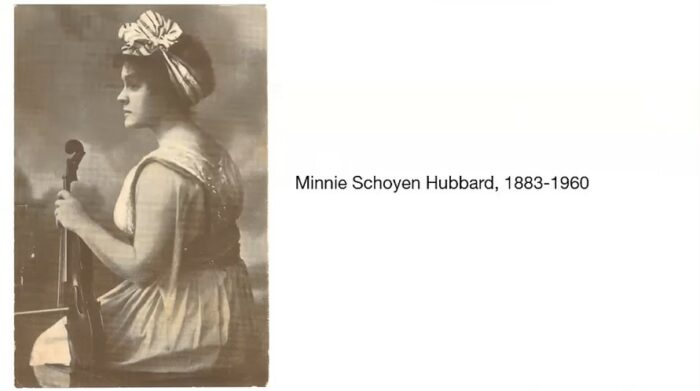 Minnie Schoyen Hubbard was an accomplished violinist from Mankato, Minnesota. Her home is featured in BECHS virtual walking tour.