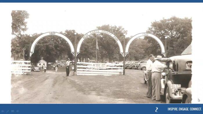 Blue Earth County Fair entrance in 1943