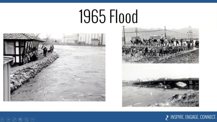 Images from the Minnesota River flood in 1965 that severely impacted Mankato, Minnesota
