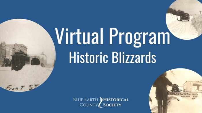 Opening slide to BECHS' Historic Blizzards presentation