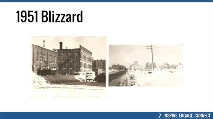 Historic images from the 1951 blizzard in Mankato, Minnesota