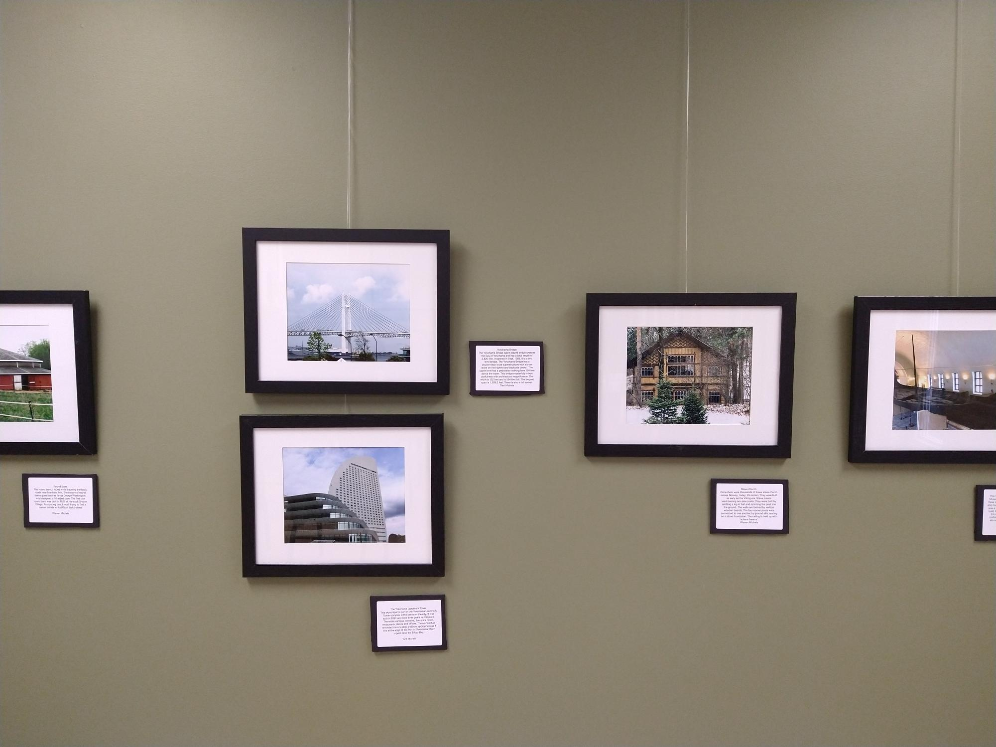 Architectural Elements by the Bend of the River Photography Club, on display through December 31, 2021