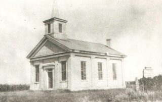Early Welsh Settlement Church - Zion in Cambria, Black and white image